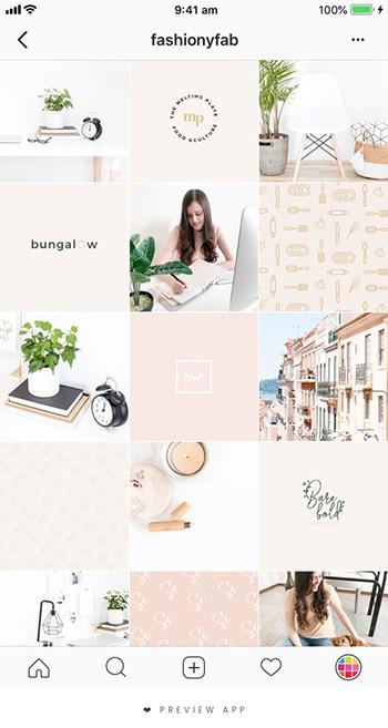 instagram layout sample